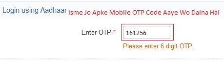 enter your OTP