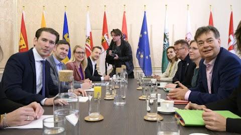 Megbeszélést folytatott a konzervatív Osztrák Néppárt delegációja a Zöldek küldöttségével