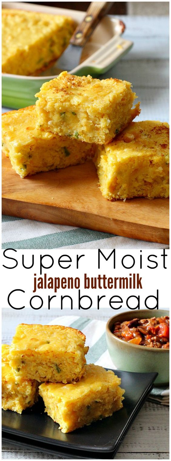 Super Moist Jalapeno Buttermilk Cornbread