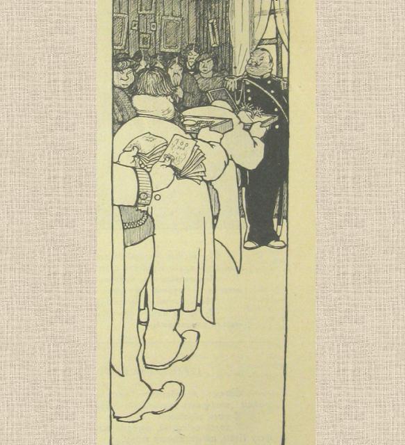 карикатура 1909 года