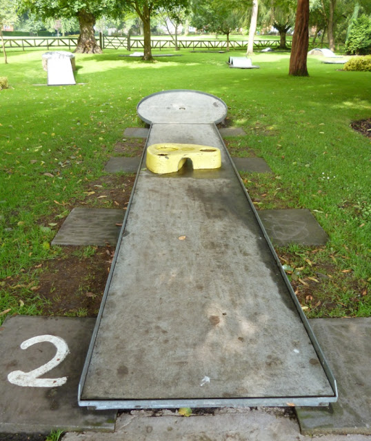 Miniature Golf course at Cae Glas Park in Oswestry
