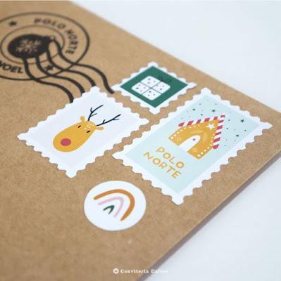 envelope cartinha papai noel selo natal