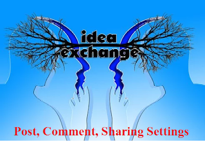 blogger पोस्ट comment sharing setting