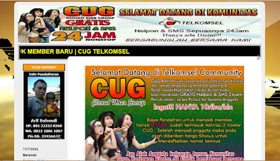 Jasa Blog CUG Corporate Telkomsel