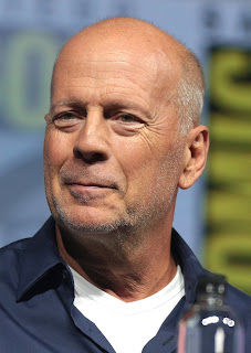 Bruce Willis speaking at the 2018 San Diego Comic-Con