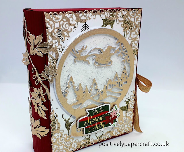 Faux book box, Christmas eve box,