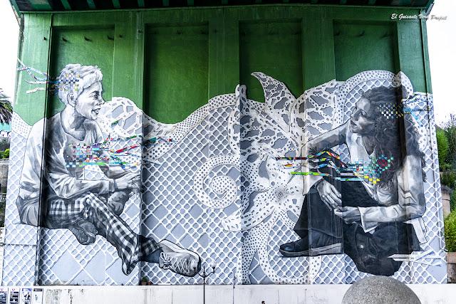 Mural 'Giltza Bat - Una Llave' por Verónica y Christina Werckmeister - Bilbao, por El Guisante Verde Project