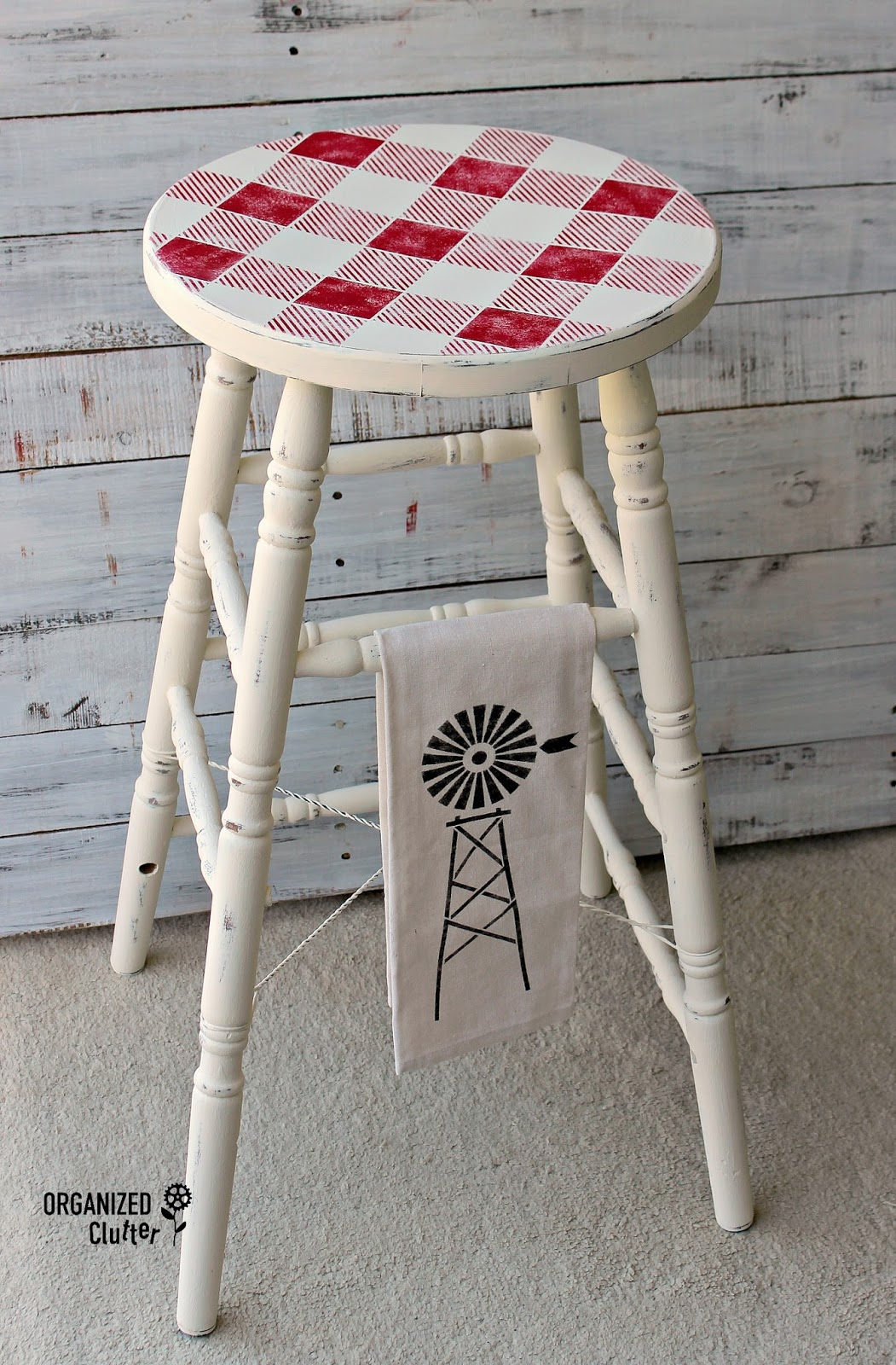 Rummage Sale Stool Amp Planter Upcycles With Paint Amp Old