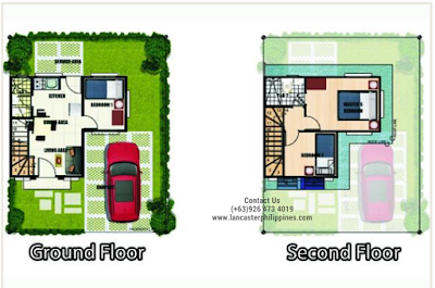 Floor Plan of Sophie - Lancaster New City Cavite | House and Lot for Sale Imus-General Trias Cavite