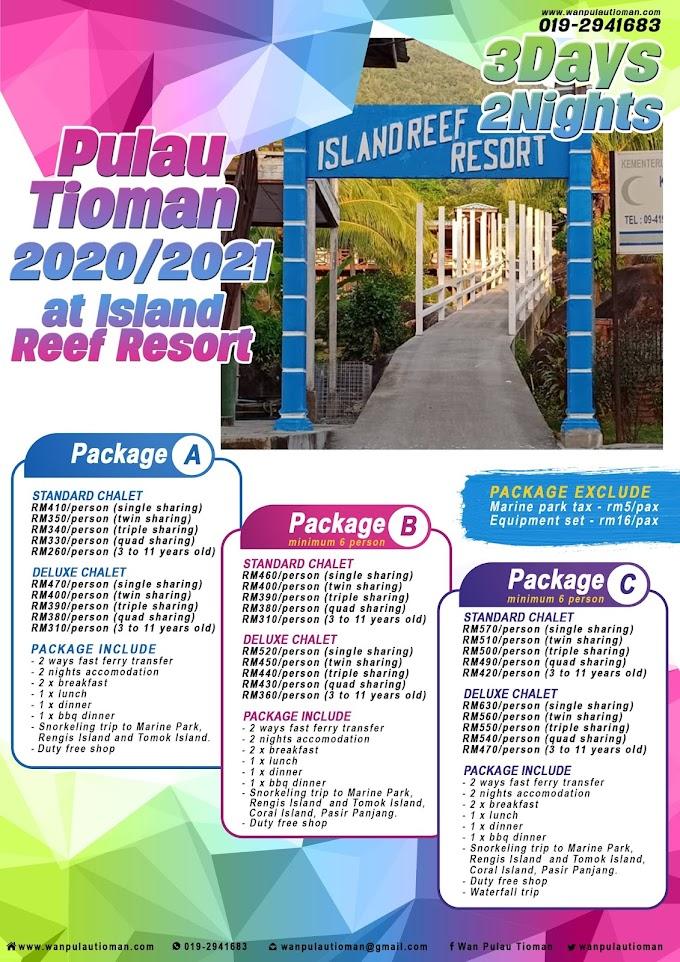 Pakej Percutian 3 Hari 2 Malam Ke Pulau Tioman 2020 - Island Reef Resort ~ Pulau Tioman