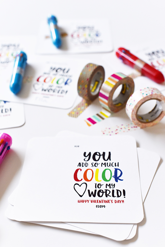 FREE | You Color My World Valentine