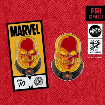 San Diego Comic-Con 2021 Exclusive Cosmic Ghost Rider Marvel Portrait Enamel Pin by Tom Whalen x Mondo