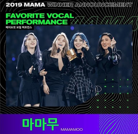 Mamamoo Meraih Piala Favorite Vocal Performance di MAMA 2019