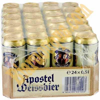 Thùng bia Đức Apostel Weissbier Hell 24 lon