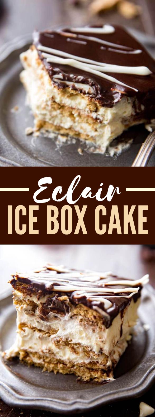 Eclair Ice Box Cake #desserts #crackers