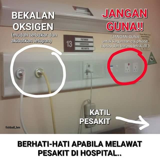 Berhati-hati dengan elektrik.