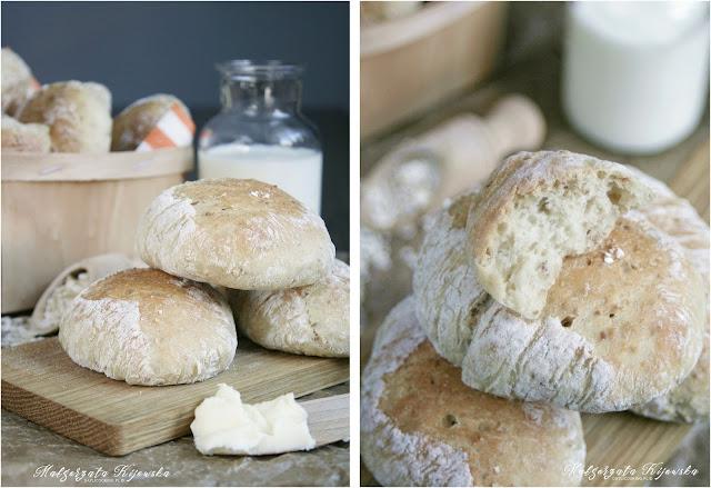 bułeczki drożdżowe, pszenne pieczywo, śniadanie, wypieki, kolacja, daylicooking, Małgorzata Kijowska