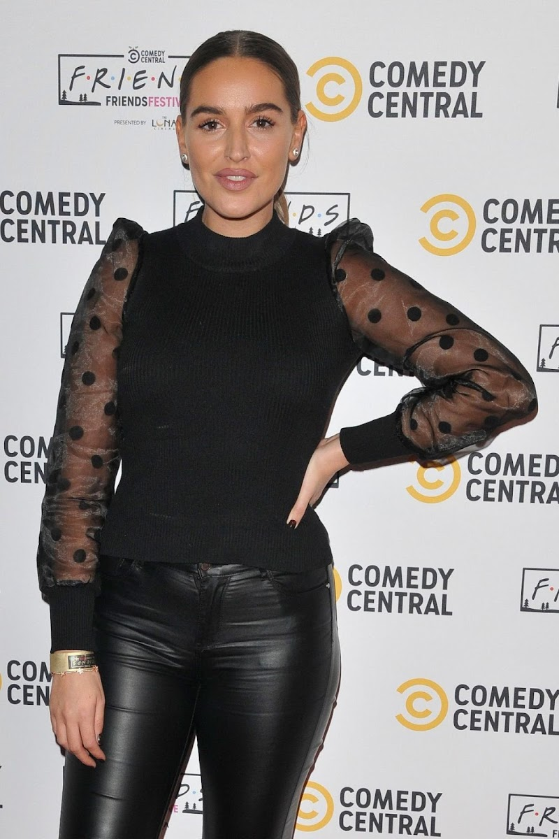Chloe Ross Clicks at Comedy Central Friends Festive Exhibition Launch in London 28 Nov-2019