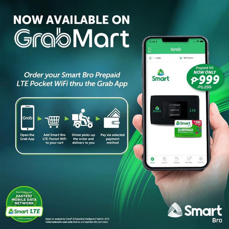 Smart Bro LTE Pocket WiFi now available via GrabMart