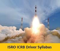 ISRO ICRB Driver Syllabus