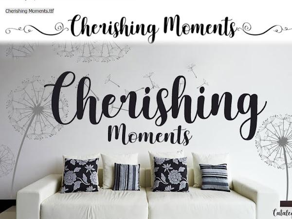 Cherishing Moments Elegant Script Font