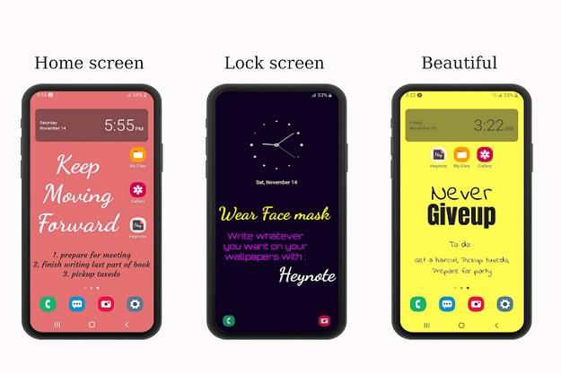 Heynote - Κρατάμε εύκολα σημειώσεις στην αρχική οθόνη του smartphone