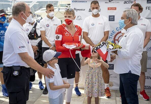 Prince Albert, Prince Jacques and Princess Gabriella. Gareth Wittstock, participated in the race. The race end at the Yacht Club de Monaco