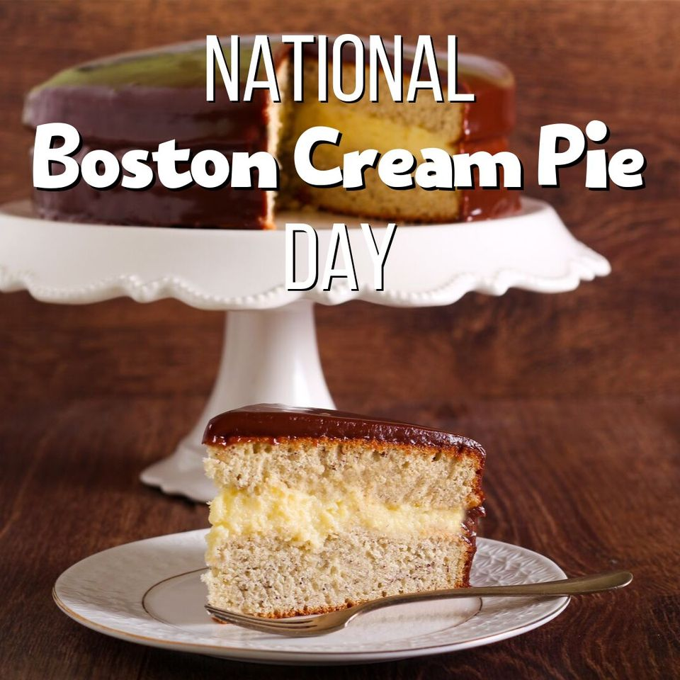 National Boston Cream Pie Day Wishes Sweet Images