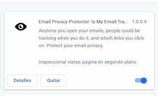 """Si crees que están rastreándote si abres los correos o no por ejemplo, con Mailtrack, y no quieres que la gente sepa a qué horas leíste sus correos, entonces instálate la extensión """"Email Privacy Protector"""""""