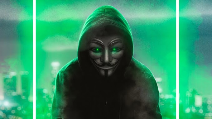 Anonimo Mascarado Artista Neon Verde
