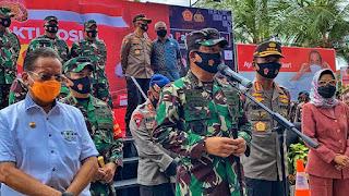 Panglima TNI dan Kapolri Lepas Bantuan Sosial dan Tim Satgas Pendisiplinan Protokol Kesehatan di Palu2