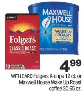 Folgers cvs deals
