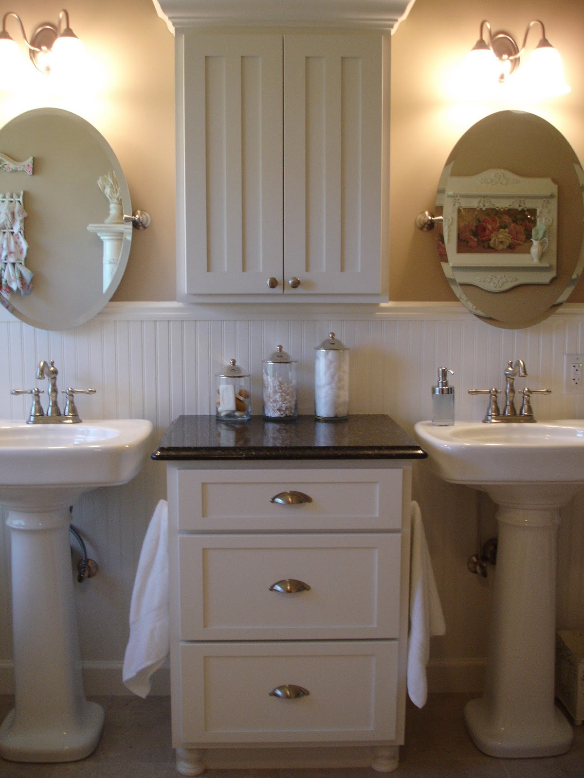 Small Bathroom Double Sink Forever Decorating My Master Bathroom Update