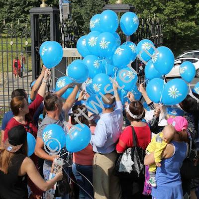 Раздача гелиевых воздушных шаров с логотипом