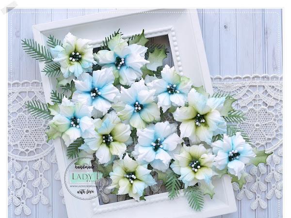 Handmade Paper Poinsettia Flowers