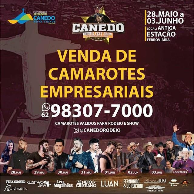 Liberadas as vendas dos Camarotes Empresariais do Canedo Rodeio Fest Show