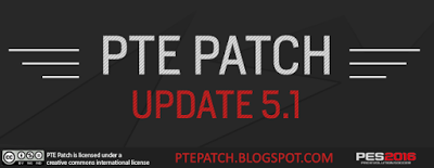 Update Patch PES 2016 dari PTE Patch 5.1