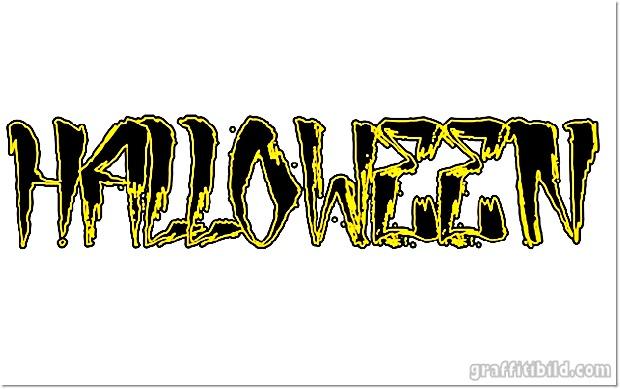 Halloween graffiti letters, halloween graffiti schrift, graffiti fonts