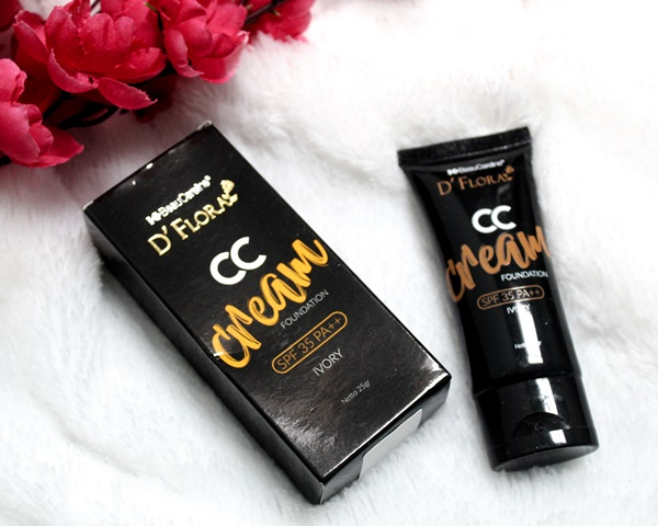 D'Flora CC Cream Foundation untuk makeup natural