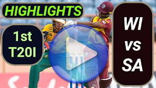 WI vs SA 1st T20I 2021