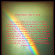 May 17, 2015 Surgery Day......The Rainbow tells it ALL!