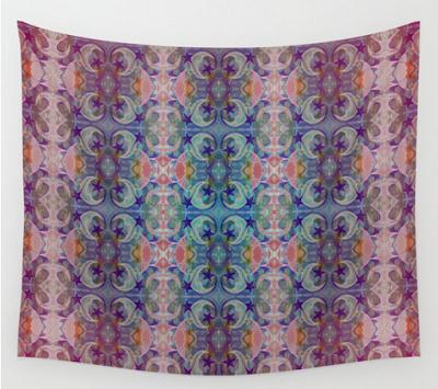 Moon Stars Ornate Pattern by Melasdesign