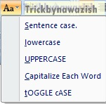 Home Tab MS Word 2007