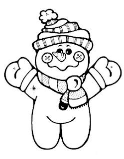 דפי צביעה בובת שלג
