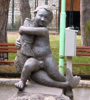το σιντριβάνι στο πάρκο St Vrach του Σαντάνσκι