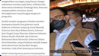 Jokowi Rapat dengan Para Gubernur, Anies Tidak Diberi Kesempatan Bicara Sama Sekali