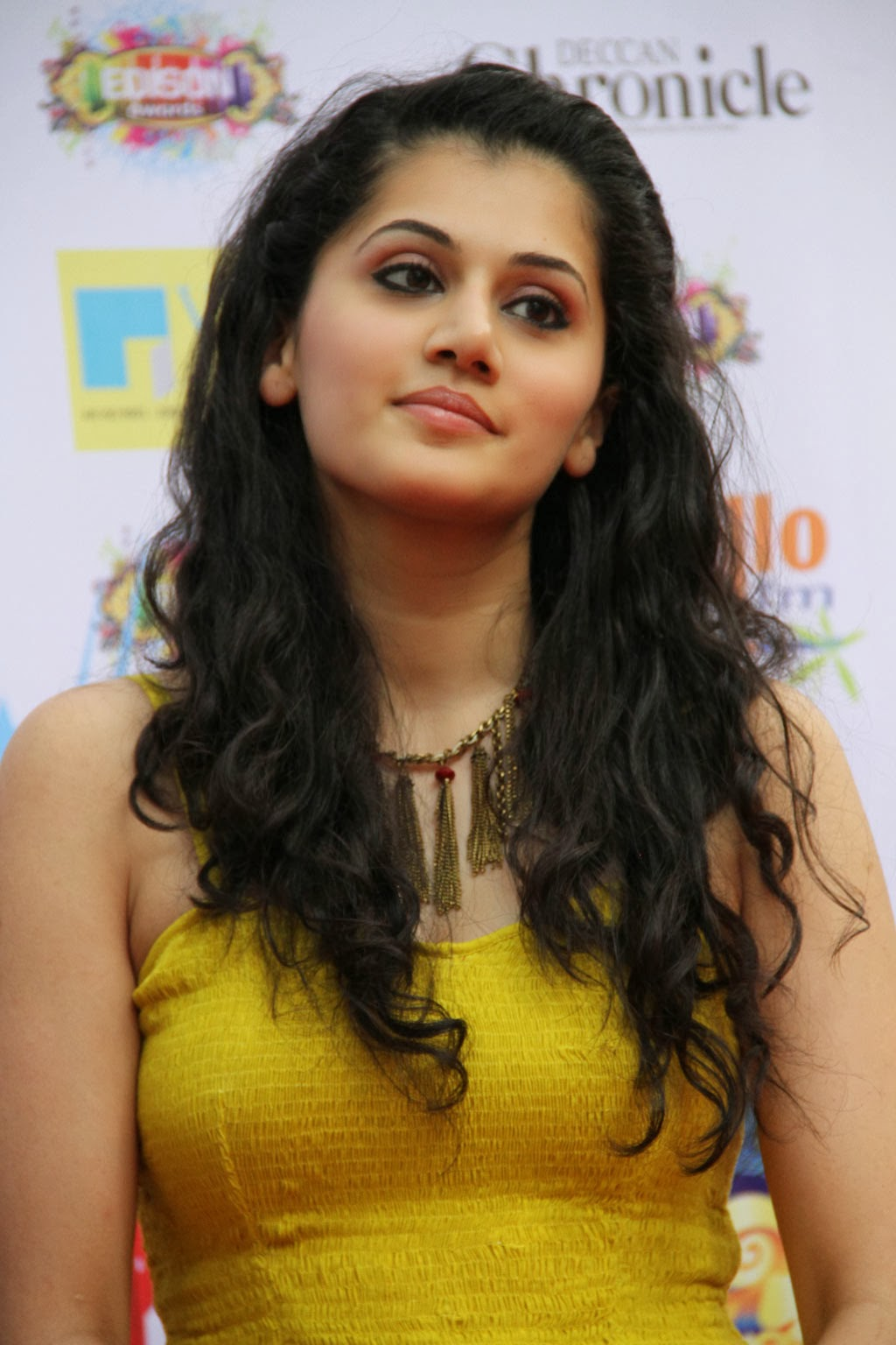 Tapsee Latest Sad Stills In Yellow Dress