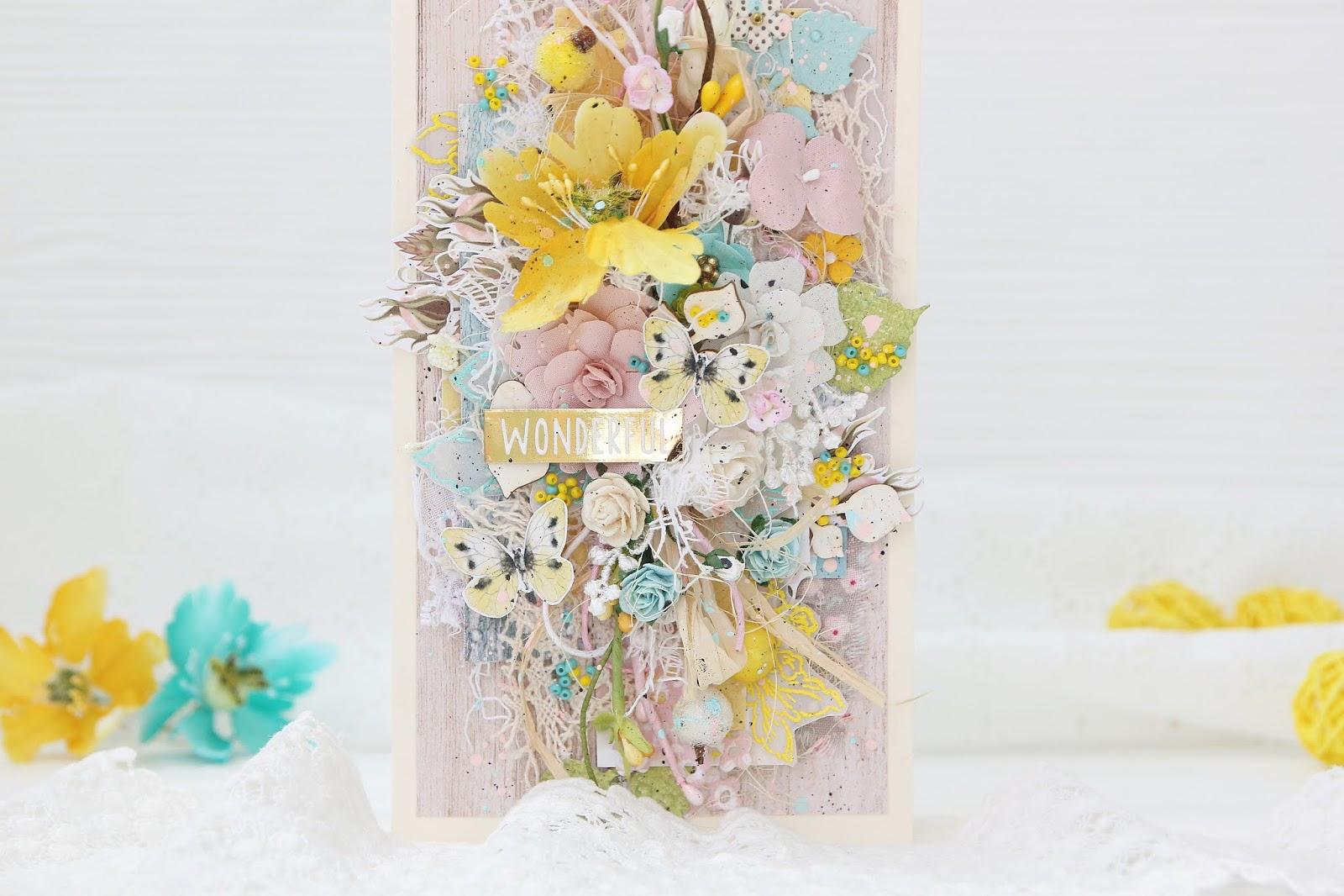 Скрапбукинг мк открытки с цветами