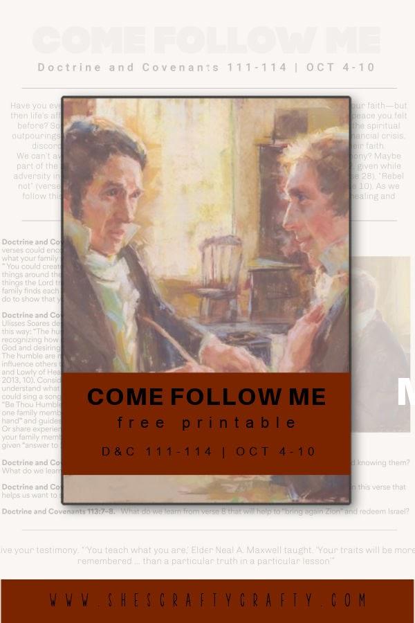 Come Follow Me free printable pinterest pin.