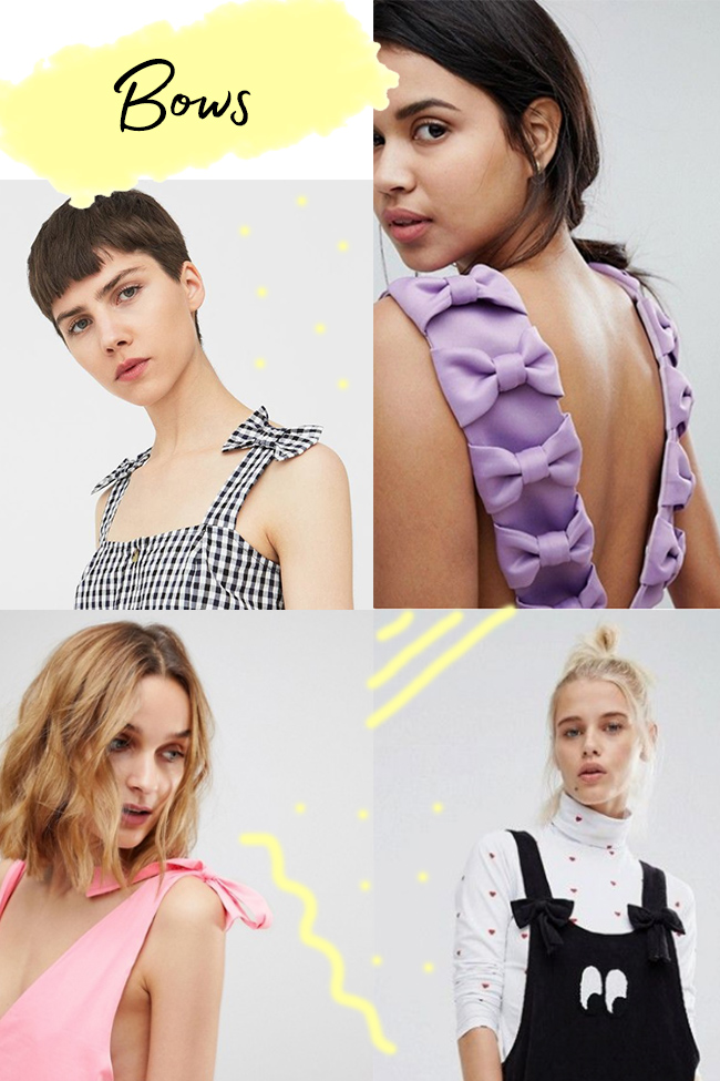 10 strap ideas for the Cleo dress - bows